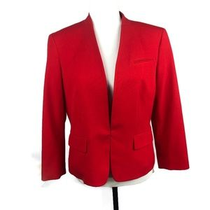 Nine and Co. Ladies Red Suiting Blazer Size 8
